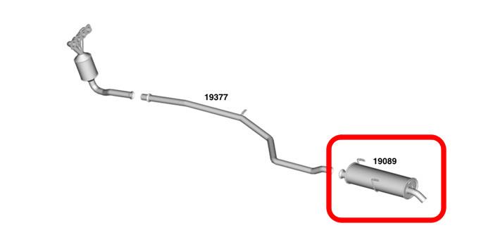Silencioso do escapamento traseiro peugeot 206 todos for Renauto 2000